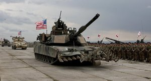 US tanks in military exercises