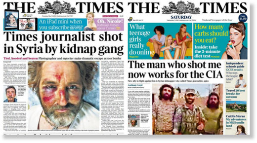 CIA kidnapper FSA rebels Times Journalist