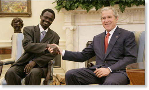 Minni Minnawi and George W Bush
