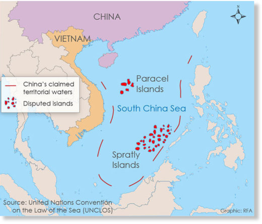 Nine dash line China
