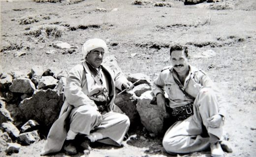 Lt. Colonel Sagi with Mustafa Barazani