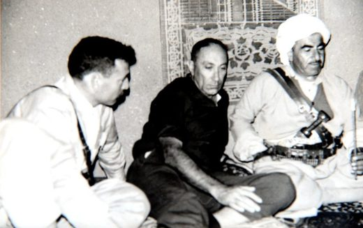 Barazani with then-head of the Mossad, Meir Amit