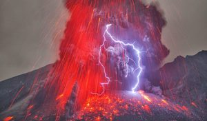 Sakurajima volcano in Japan
